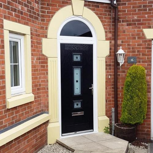 Jacobean Composite door with arched toplight